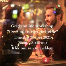 Gratis online Workshop 25 mei 20.00 uur